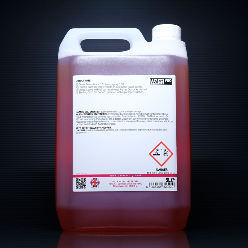 Snow Foam Combo 2 5L -back labels
